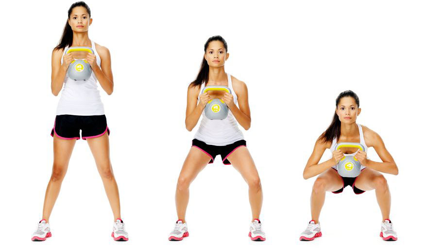 woman doing squat exercise to lose weight